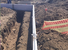 Advanced Lightning Protection - Trenching for earth conductors (copper cable)